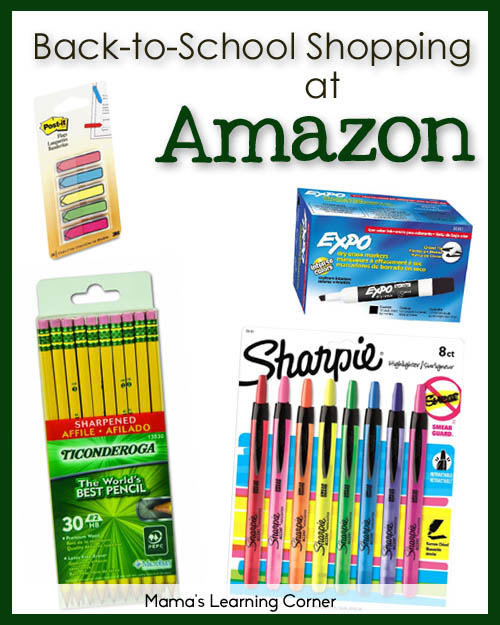 Back to School Shopping at Amazon