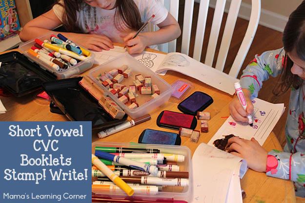 Short Vowel CVC Booklet Stamp! Write!