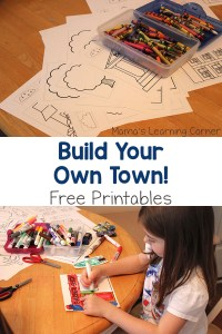 Build Your Own Town!  – with Free Printables