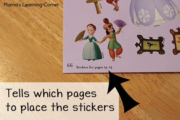 Sticker Books: The best sticker books tell which pages to place the the stickers