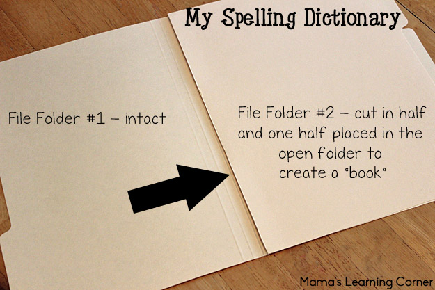 Free Printable My Spelling Dictionary