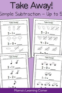 Subtraction Practice to 5: Take Away!
