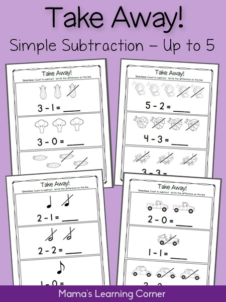 Subtraction Practice Worksheets to 5: Take Away!