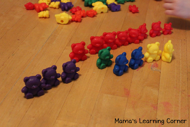 Bear Counters: Sort by Color