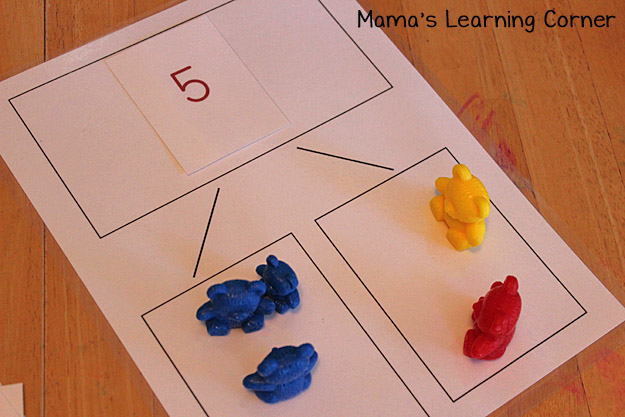 Bear Counters: Use for Number Bonds