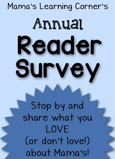 Mama's Learning Corner - Reader Survey for 2014