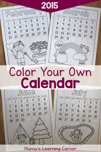 Color Your Own Calendar!