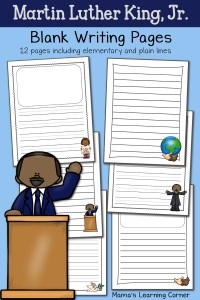 Martin Luther King Jr. Blank Writing Pages