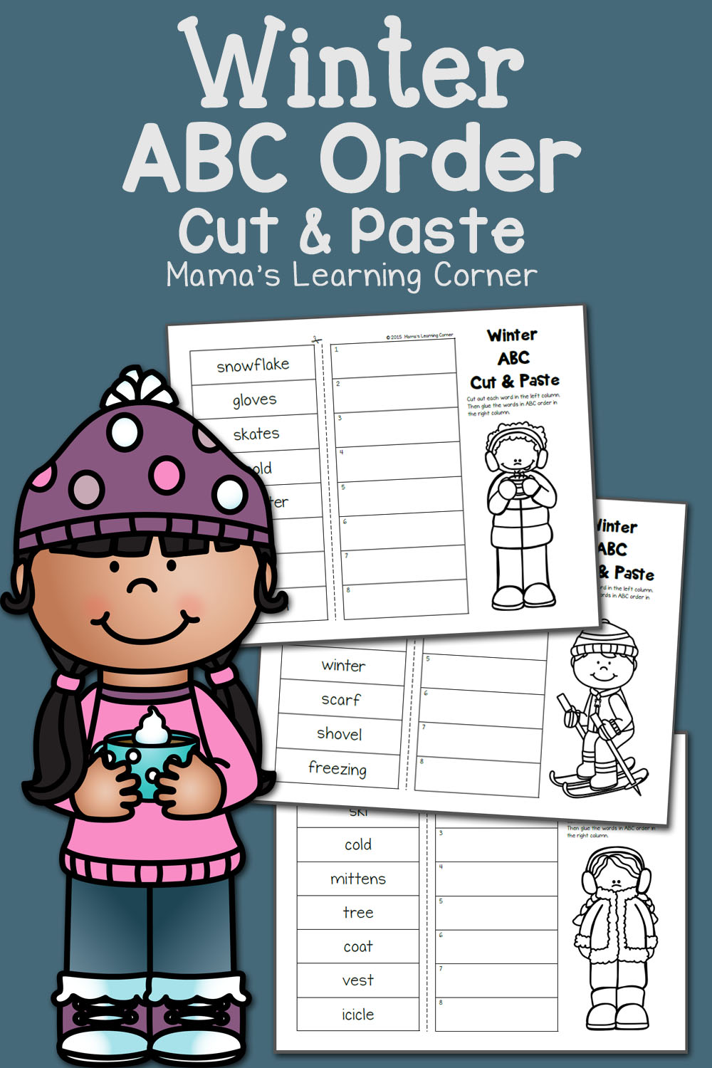 Winter Cut And Paste ABC Order Mamas Learning Corner