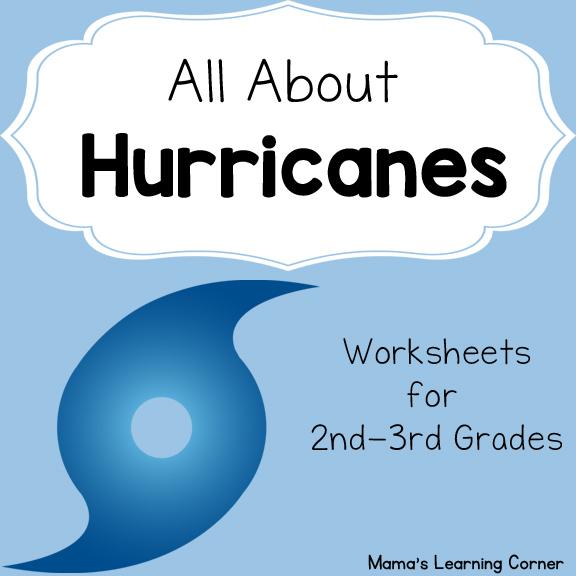 Hurricane Worksheets - Mamas Learning Corner