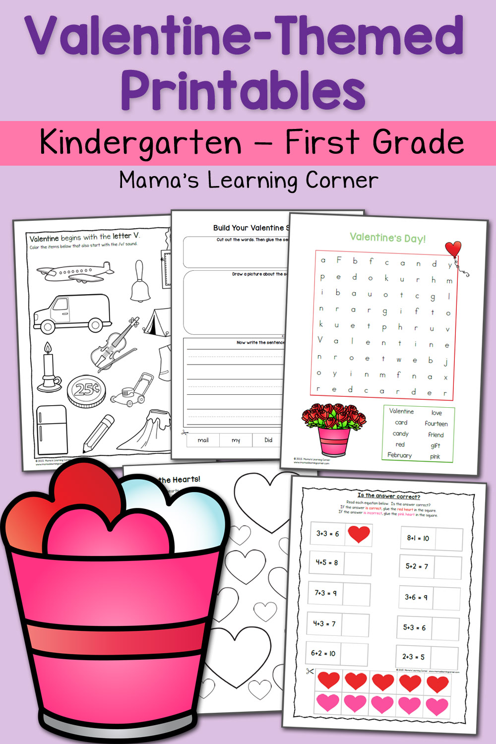 - Valentine Worksheets For Kindergarten And First Grade - Mamas