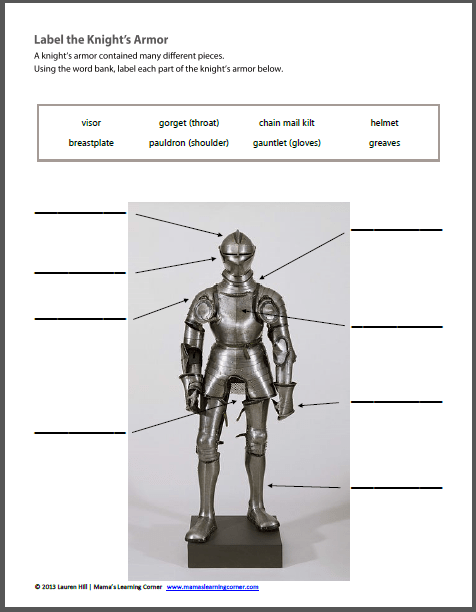 Knight Worksheets