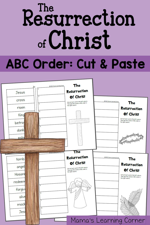 Resurrection of Christ: ABC Order Worksheet
