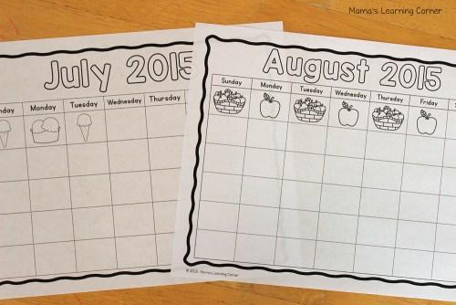 Kindergarten Calendar Notebook: Months of the Year