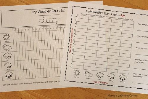 Kindergarten Calendar Notebook: Weather Chart and Graph