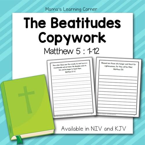 The Beatitudes Copwyork (Matthew 5)