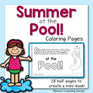 Summer at the Pool Coloring Pages