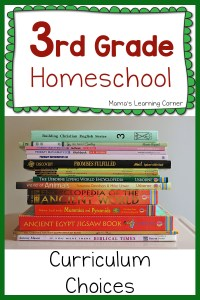 3rd Grade Homeschool Curriculum Plans for 2015-2016