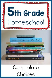 5th Grade Homeschool Curriculum Plans for 2015-2016