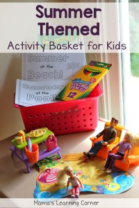 Activity Basket for Kids: Summer Themed!