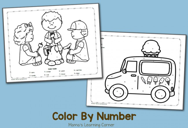 Color By Number July Freebie