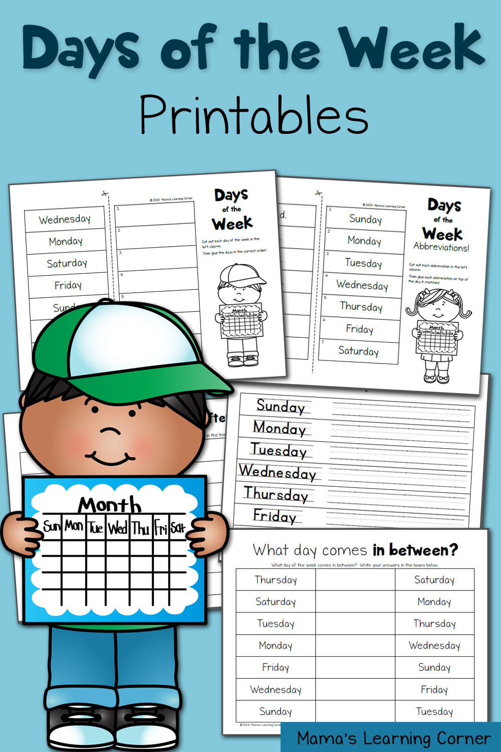 This is an image of Free Printable Days of the Week Worksheets pertaining to grade r assessment