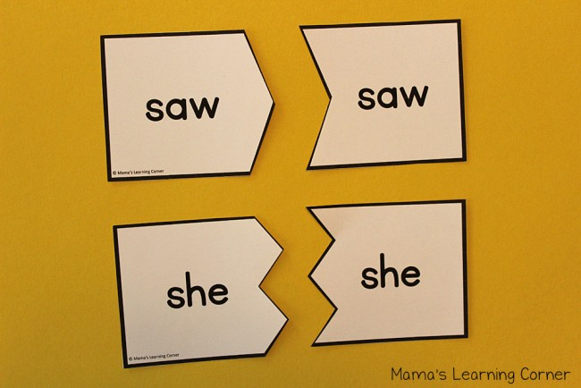 Sight Words Puzzle Cards Dolch Primer Words List