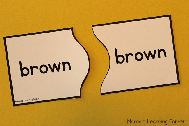 Sight Words Puzzle Cards Primer Words