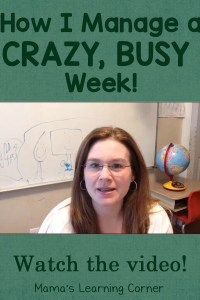 How I Manage a Crazy Busy Week
