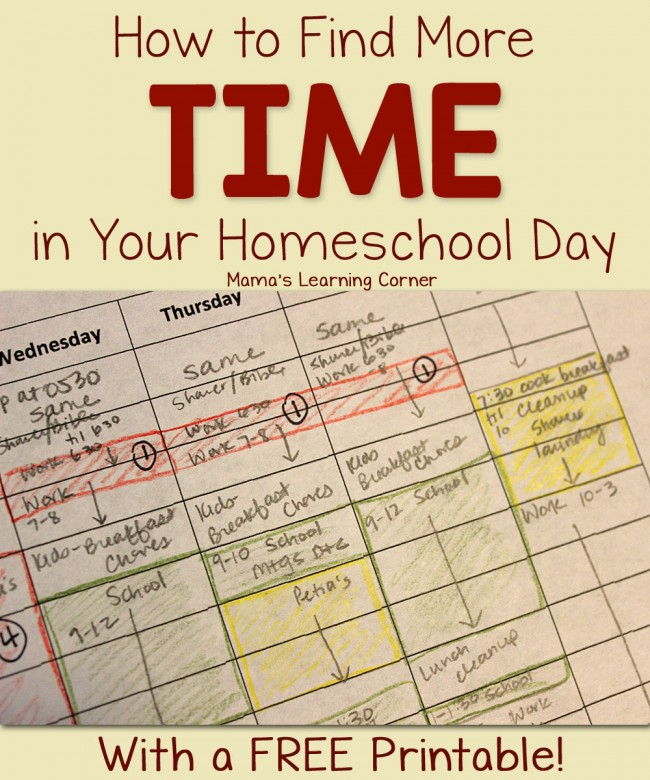 How to Find More Time in My Homeschool Day