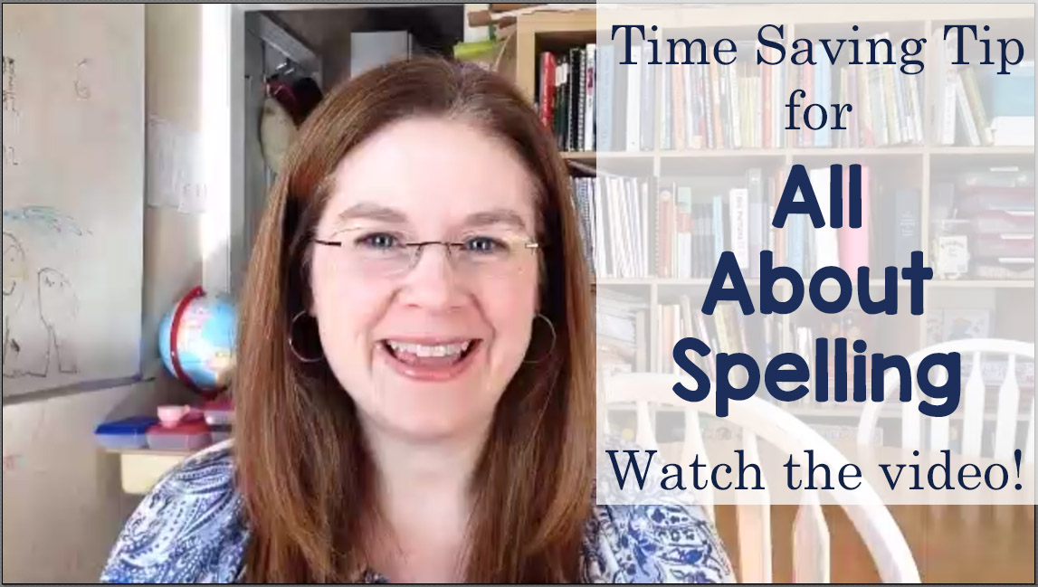 Time Saving Tip All About Spelling Video on You Tube