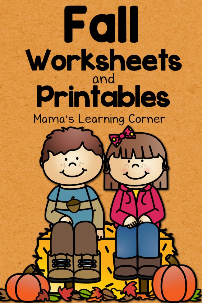Fall Worksheets and Printables