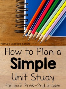 How to Plan a Simple Unit Study