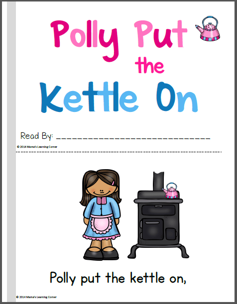 Polly Put the Kettle On Nursery Rhyme