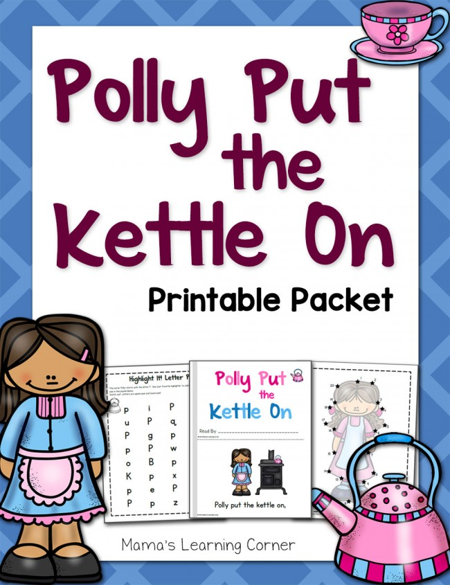Polly Put the Kettle On Printable Packet