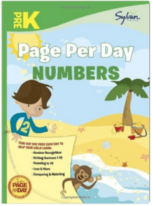 Page per day: practice a number each day