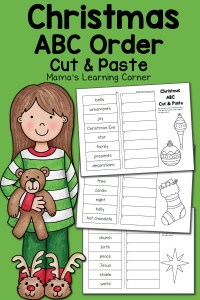 Christmas ABC Order Worksheets: Cut and Paste!