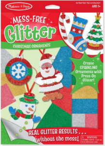 Mess Free Glitter Christmas Ornaments