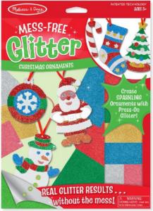 Mess Free Glitter Christmas Ornaments