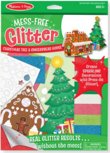 Mess Free Glitter Christmas Tree and Gingerbread House