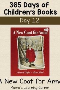 A New Coat for Anna – Day 12 in Children's Book Series