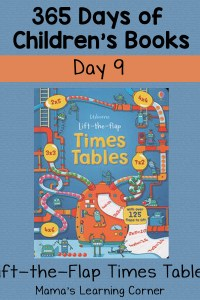 Lift the Flap Times Tables: Day 9 of 365 Days of Children's Books