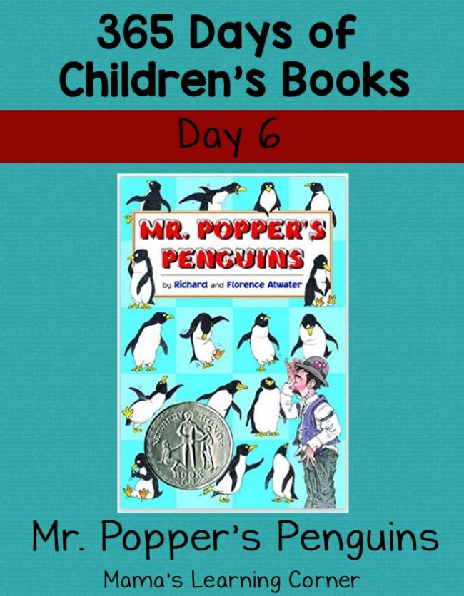 Children's Books - Mr. Popper's Penguins: Day 6 of 365 Days of Children's Books