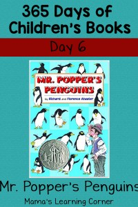Mr. Popper's Penguins: Day 6 of Children's Books