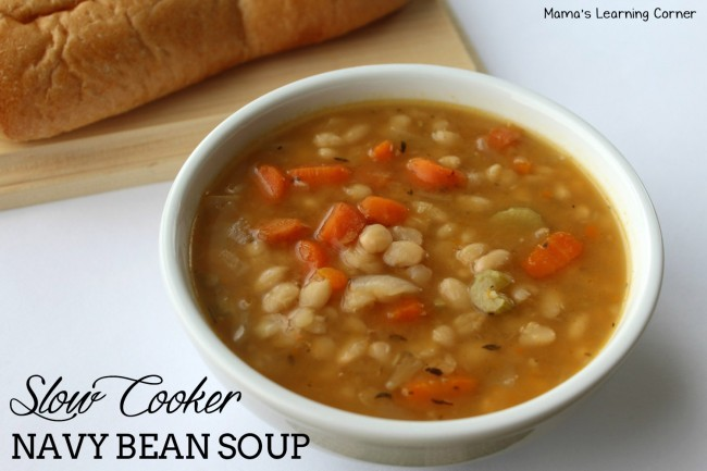 Slow Cooker Navy Bean Soup Recipe