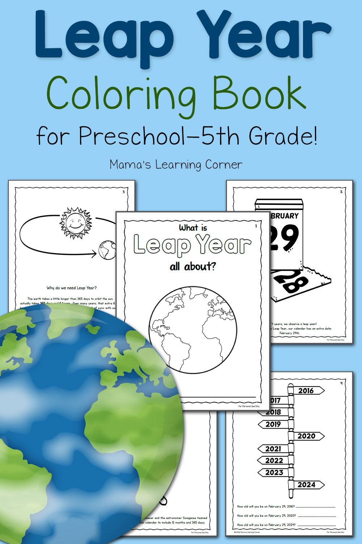 image regarding Leap Year Printable named Printable Jump Calendar year Coloring E-book - for Preschool toward 5th