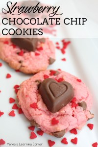Sweetheart Strawberry Chocolate Chip Cookies