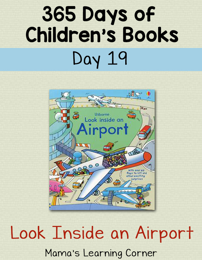 Children's Books - Look Inside an Airport: Day 19 of 365 Days of Children's Books!