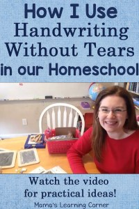 How I Use Handwriting Without Tears in Our Homeschool – with a video!