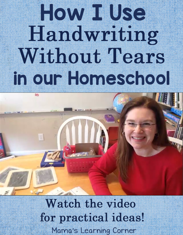 How I Use Handwriting Without Tears in Our Homeschool
